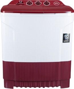 Godrej 7.2 Kg Semi Automatic Top Load Washing Machine (WS Edge CLS PN2 M WNRD, White & Maroon)