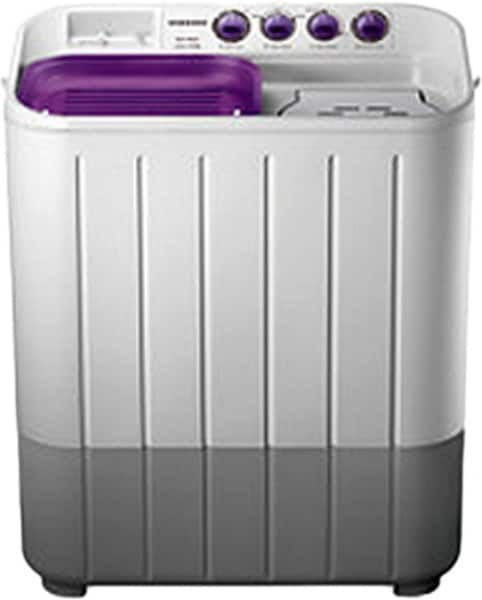 Samsung 6.5 kg Semi Automatic Top Load Washing Machine (WT655QPNDRP, Purple & White)
