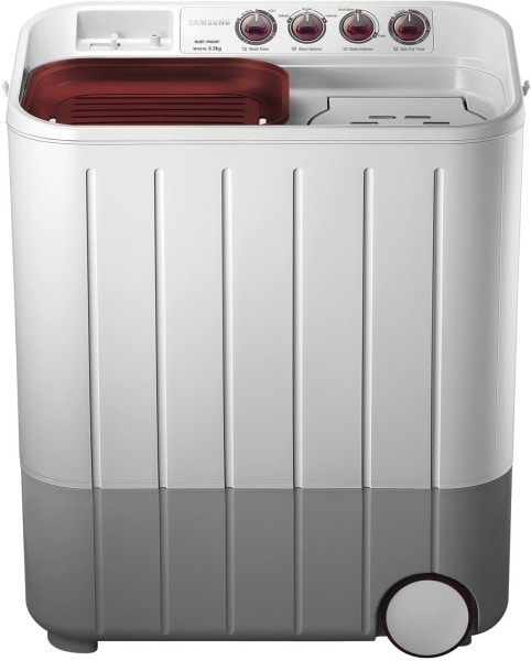 Samsung 6.5 kg Semi Automatic Top Load Washing Machine (WT657QPNDPG, Maroon & white)