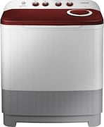 Samsung 7.5 kg Semi Automatic Top Load Washing Machine (WT75M3000HP, Red & Light Grey)