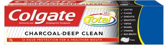 Colgate Total Charcoal Deep Clean Toothpaste (120GM)