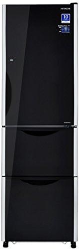 Hitachi 342 L Frost Free Triple Door Inverter Technology Refrigerator (RSG32FPND, Glass Black)