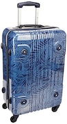 Tommy Hilfiger Tropical Austin Hard Sided Suitcase (Navy, Large)