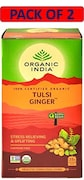 Organic India Tulsi Ginger Tea (50GM, Pack of 2, 25 Pieces)