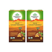 Organic India Tulsi Ginger Turmeric Tea (50GM, Pack of 2, 25 Pieces)