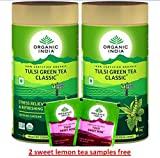 Organic India Tulsi Green Tea Classic (100GM, Pack of 2)