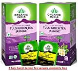 Organic India Tulsi Green Tea Jasmine (Pack of 2, 25 Pieces)