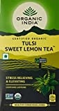 Organic India Tulsi Sweet Lemon Tea (50GM, 25 Pieces)