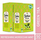 Typhoo Organic Refreshing Green Tea Moroccan Mint (Pack of 2, 25 Pieces)