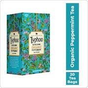 Typhoo Refreshing Organic Peppermint Tea (24GM, 20 Pieces)
