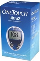 OneTouch Ultra 2 Glucometer (35 Strips, Blue)