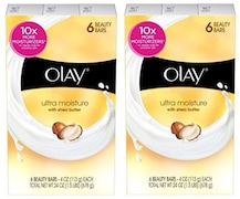 Olay Ultra Moisture With Shea Butter Beauty Bar Soap 6 Bar Total 12 Bars (678GM, Pack of 2)