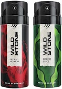 Wild Stone Ultra Sensual And Forest Spice Combo Deodorant (150ML, Pack of 2)