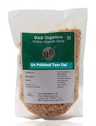 B&B Organics Unpolished Toor Dal (Yellow, 2KG)