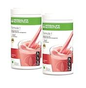 Herbalife Nutritional Shake Mix Formula-1 (Strawberry, 500GM, Pack of 2)