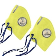Venus V-410 Dust Protection Anti Pollution Mask (Yellow, Pack of 2)
