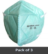 Venus V-4420 Dust Protection Anti Pollution Mask (Sky Blue, Pack of 3)