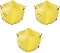 Venus V44+ FFP1 Dust Protection Anti Pollution Mask (Yellow, Pack of 3)