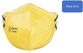 Venus V44+ FFP1 Dust Protection Anti Pollution Mask (Yellow, Pack of 6)
