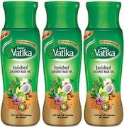 Dabur Vatika Enriched Coconut Hair Oil (75GM, Pack of 3)