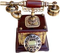Gooddeals Vintage Operational Cordless Landline Phone (Brown)