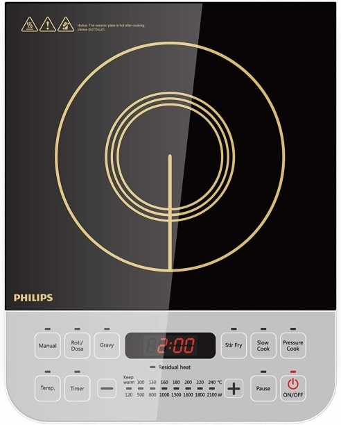 Philips Viva Collection HD4928/01 2100 W Induction Cooktops (Black)