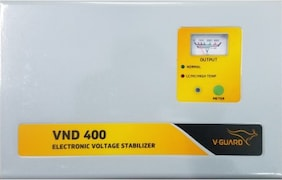 V-Guard VND 400 Voltage Stabilizer (Black)