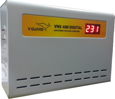 V-Guard VNS 400 Digital Voltage Stabilizer (Grey)