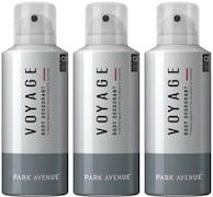 Park Avenue Voyage Deodorant Body Spray (150ML, Pack of 3)