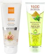 VLCC Walnut Skin Defense Face Scrub (Pack of 10)