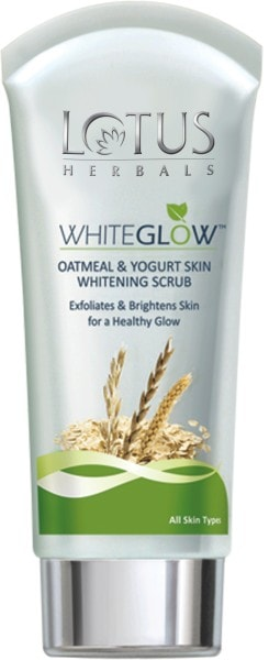 Lotus Herbals White Glow Oatmeal And Yogurt Skin Whitening Scrub (300GM, Pack of 3)