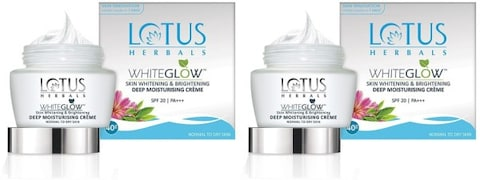 Lotus Herbals White Glow Skin Whitening And Brightening Deep Moisturising Creme (40GM, Pack of 2)