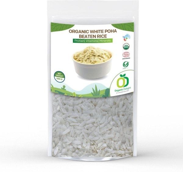 Organic Delight White Poha (500GM)
