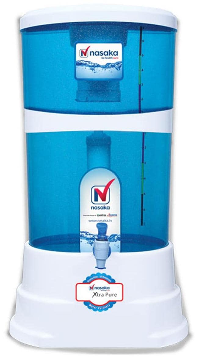 Nasaka Xtra Pure 18L Gravity Based Water Purifier (Blue & White)