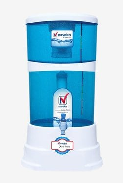 Nasaka Xtra Pure 20L Gravity Based Water Purifier (Blue & White)
