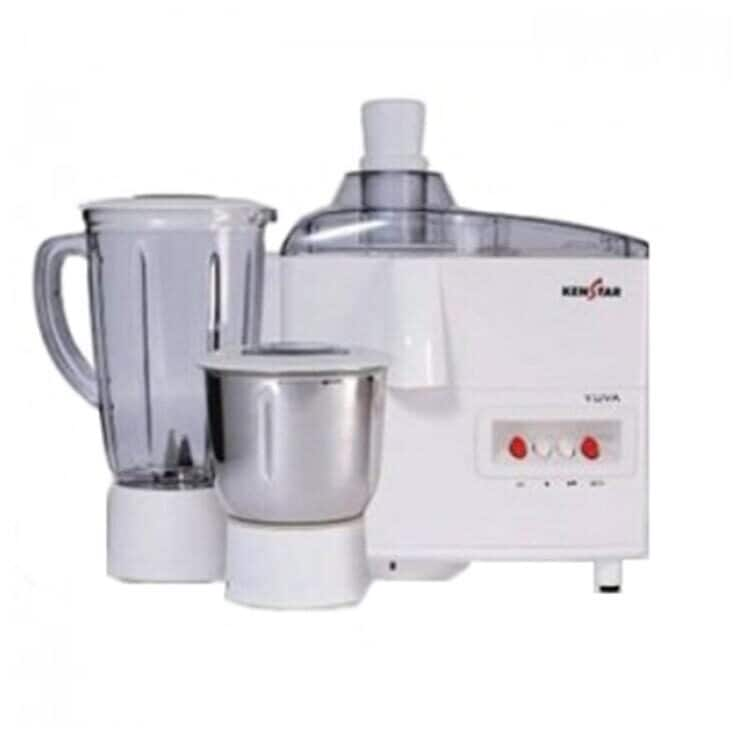 Kenstar Yuva Plus 500W Juicer Mixer Grinder (White, 2 Jar)